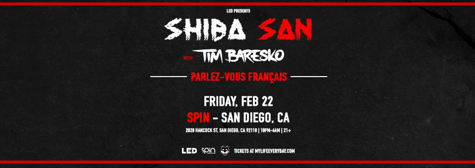 Shiba San at Spin Nightclub – February 22, 2019